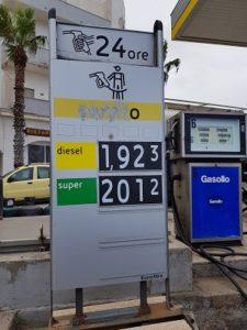 benzina pantelleria