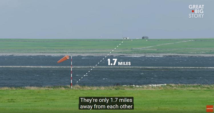 Τα δύο νησιά απέχουν μόλις 2,7χλμ