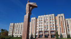 Κοινοβούλιο με το άγαλμα του Λένιν στο Τιράσπολ, Υπερδνειστερία