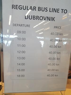 shuttle bus timetable
