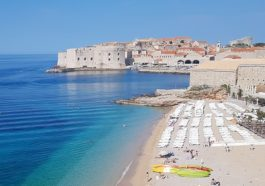 Dubrovnik view from Banje beach