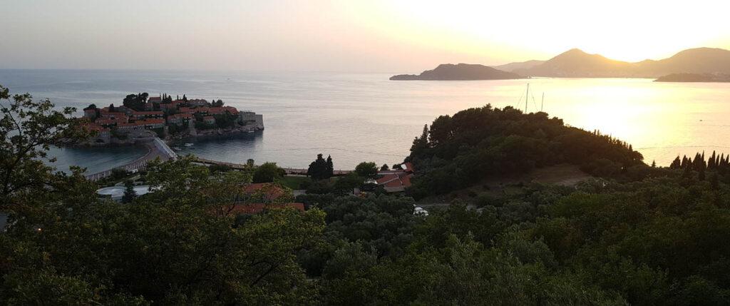 Ηλιοβασίλεμα Sveti Stefan